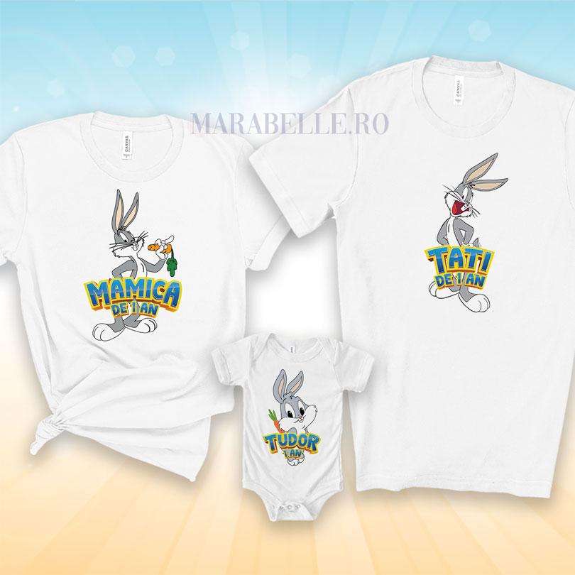 Tricouri cu Bugs Bunny pentru tăiere de moţ