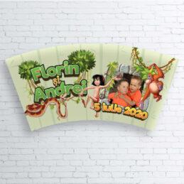 Etichete autocolante pentru pahare cu tema Cartea Junglei