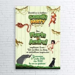 Invitaţie electronică cu tema Cartea Junglei