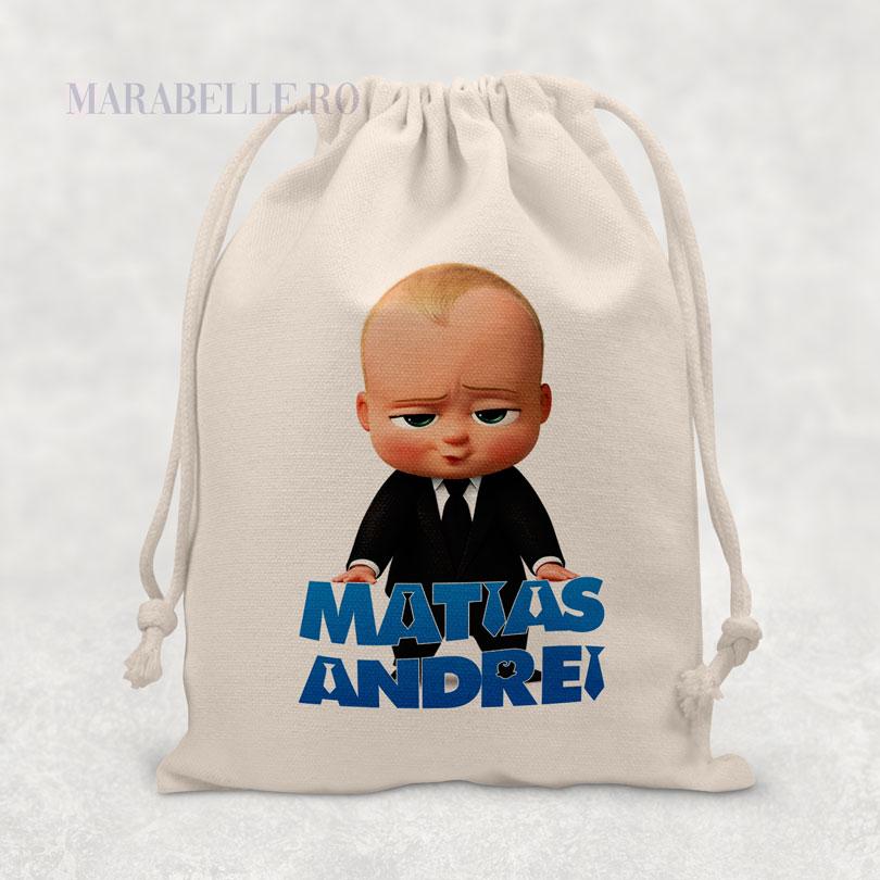 Cadou cu Boss Baby, săculeţ personalizat cu nume