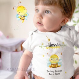 Tricou sau body personalizat cu albinuţă