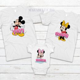 Tricouri cu Mickey Mouse pentru aniversări sau tăieri de moţ