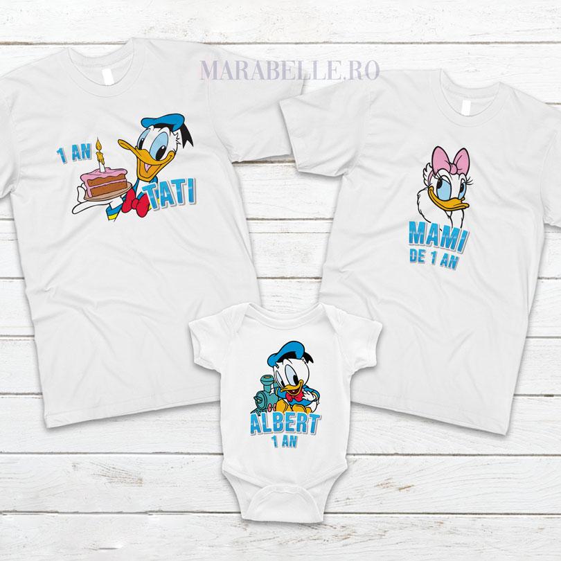 Set de tricouri personalizate cu Donald pentru taiere de mot