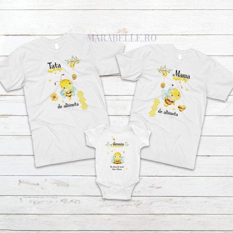 Tricouri personalizate pentru tăiere de moţ cu alibinuta
