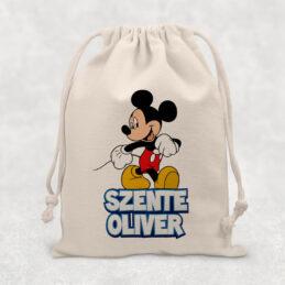 Săculeţ pentru grădiniţă cu Mickey Mouse, personalizat cu nume