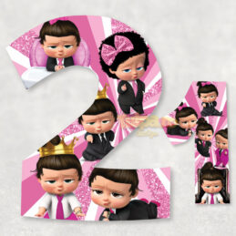 Cifre pentru candy bar cu Boss Baby Girl